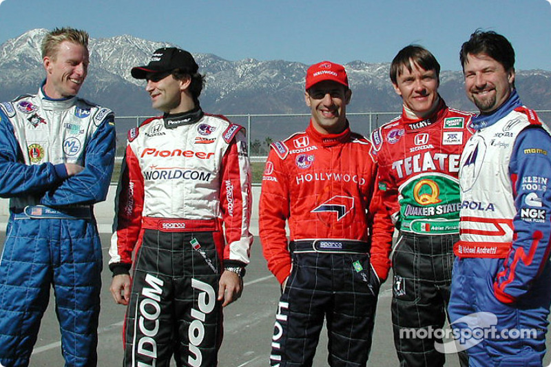 Pilotos Street Team co-captains: Memo Gidley, Alex Zanardi, Tony Kanaan,Adrian Fernández y Michael Andretti