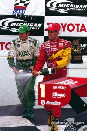 1. Juan Pablo Montoya, Chip Ganassi Racing, 3. Dario Franchitti, Team Green