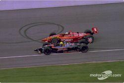 Christian Fittipaldi, Newman/Haas Racing, Lola-Ford, Juan Pablo Montoya, Chip Ganassi Racing, Lola-Toyota