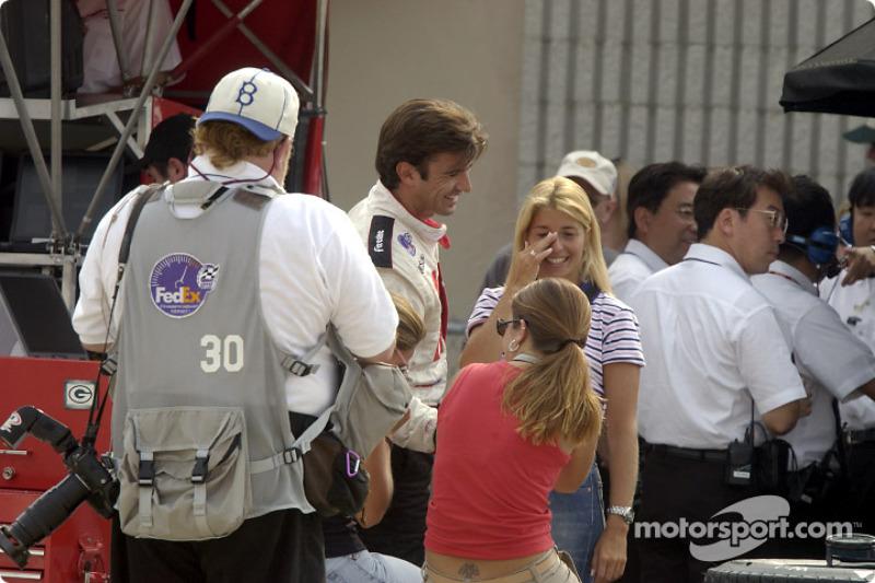 Christian Fittipaldi, girls and a paparazzi