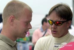 Jan Magnussen visita a Adrián Fernández Racing