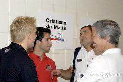 Kenny Brack, Bruno Junqueira and Gil de Ferran having fun
