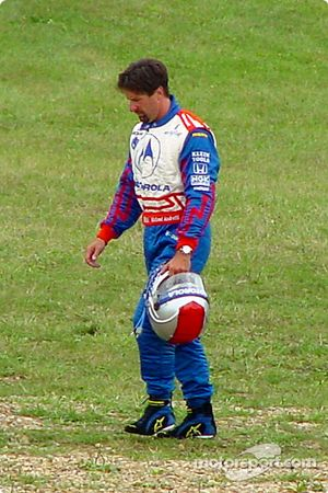 Michael Andretti out of the race
