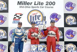 The podium: Patrick Carpentier, Helio Castroneves and Gil de Ferran