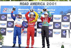 Podio: Michael Andretti, Bruno Junqueira y Adrián Fernández
