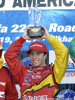 Race winner Bruno Junqueira