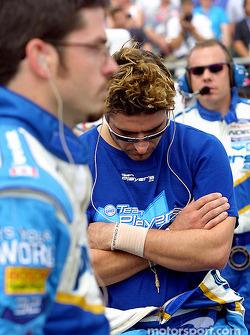 Alex Tagliani and Patrick Carpentier before the race