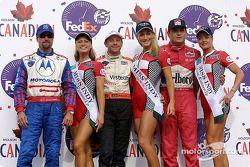 Le podium : Michael Andretti, Roberto Moreno et Gil de Ferran