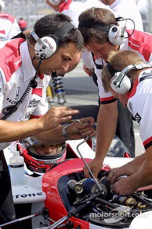 Team Penske se prépare pour les essais