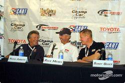 Légendes du ChampCar : Mario Andretti, Rick Meard et Bobby Unser
