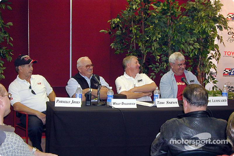 Champ car legends: Parnelli Jones, Wally Dallenbach, Tom Sneva and Joe Leonard