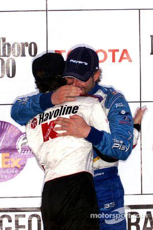 Le podium : Cristiano da Matta et Alex Tagliani