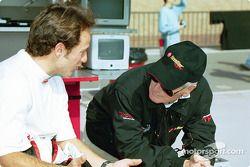 Cristiano da Matta discute avec Paul Newman
