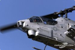 Patrick Carpentier in a AH-1W Cobra helicopter
