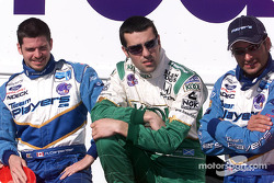 Patrick Carpentier, Dario Franchitti and Alex Tagliani