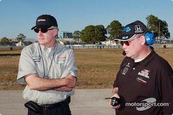 Tom Anderson avec le nouveau Team Manager Bob Adie