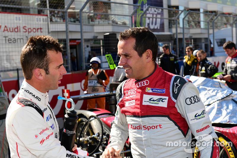 #2 Porsche Team Porsche 919 Hybrid: Romain Dumas and #7 Audi Sport Team Joest Audi R18: Benoit Tréluyer