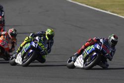 Jorge Lorenzo, Yamaha Factory Racing; Valentino Rossi, Yamaha Factory Racing; Marc Marquez, Repsol Honda Team