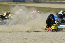 Alex Rins, Paginas Amarillas HP 40, choque