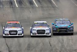 Toomas Heikkinen, EKS RX; Mattias Ekström, EKS RX; Andreas Bakkerud, Hoonigan Racing Division