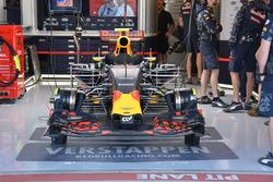 Car of Max Verstappen, Red Bull Racing RB12 running sensor equipment