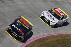 Denny Hamlin, Joe Gibbs Racing, Toyota; Carl Edwards, Joe Gibbs Racing, Toyota