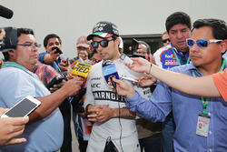 Sergio Pérez, Sahara Force India F1 con los medios