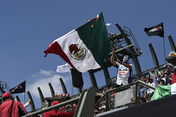 Fan waiving a Mexican flag