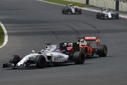 Felipe Massa, Williams FW38, Sebastian Vettel; Ferrari SF16-H