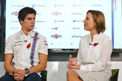 Lance Stroll, Claire Williams, directrice adjointe Williams