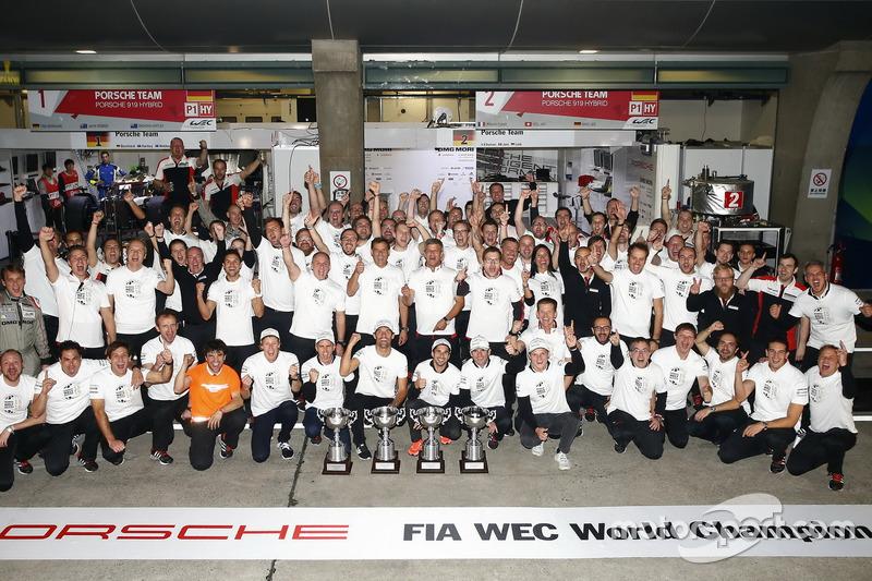 Porsche Team celebra el campeonato de fabricantes esta temporada