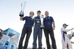 Alain Prost, Renault e.dams; Jean Paul Droit, Renault e.dams and Sébastien Buemi, Renault e.Dams
