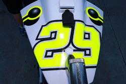 Bike detail of Andrea Iannone, Team Suzuki MotoGP