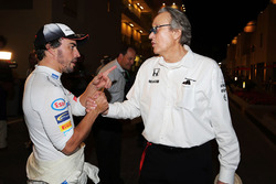 Fernando Alonso, McLaren with Mansour Ojjeh, McLaren shareholder