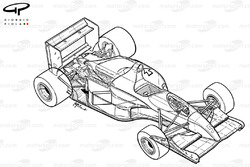 Подробная схема Williams FW14 1991 года
