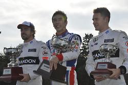 Takuma Sato, Fernando Alonso, Stoffel Vandoorne