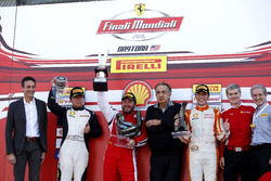 Podium: Race winner Carlos Kauffmann, Ferrari of Fort Lauderdale; second place Wei Lu, Ferrari of Vancouver; third place Marcello Puglisi, Rossocorsa with Sergio Marchionne, President Ferrari