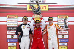 Podium: Race winner Carlos Kauffmann, Ferrari of Fort Lauderdale; second place Wei Lu, Ferrari of Vancouver; third place Marcello Puglisi, Rossocorsa
