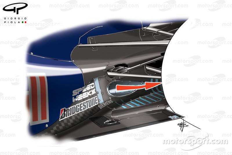 Red Bull RB6 laag geplaatste uitlaat om de diffuser beter te laten werken