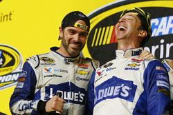 Jimmie Johnson, Hendrick Motorsports, Chevrolet; Chad Knaus