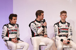 Lando Norris, Sennan Fielding and Toby Sowery with Toby Moody