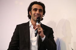 Dario Franchitti is interviewed by Henry Hope-Frost on the Autosport Stage