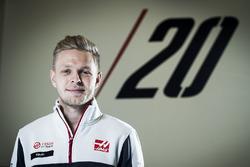Sesión de fotos Kevin Magnussen Haas F1