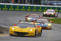 #3 Corvette Racing, Chevrolet Corvette C7.R: Antonio Garcia, Jan Magnussen, Mike Rockenfeller; #68 Ford Performance Chip Ganassi Racing, Ford GT: Billy Johnson, Stefan Mücke, Olivier Pla; #69 Ford Performance Chip Ganassi Racing, Ford GT: Andy Priaulx, Harry Tincknell, Tony Kanaan; #911 Porsche Team North America, Porsche 911 RSR: Patrick Pilet, Dirk Werner, Frédéric Makowiecki