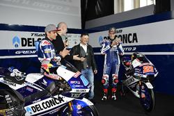 Jorge Martín, Gresini Racing Team and Fabio Di Giannantonio, Gresini Racing Team with Fausto Gresini, Team Manager