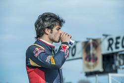 Carlos Sainz Jr., Scuderia Toro Rosso, im Karting-Club Correcaminos in Recas