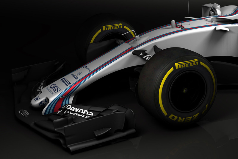 Williams FW40, ala anteriore