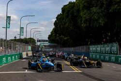 Sébastien Buemi, Renault e.Dams et Jean-Eric Vergne, Techeetah