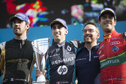 Podium: Ganador, Sébastien Buemi, Renault e.Dams, segundo, Jean-Eric Vergne, Techeetah; tercero, Lucas di Grassi, ABT Schaeffler Audi Sport