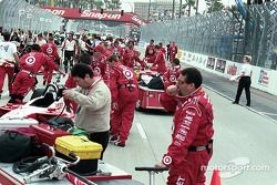 The pitlane before the race
